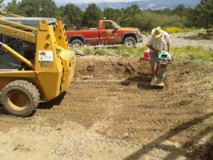 Compacting the base