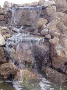 Water Feature with three falls
