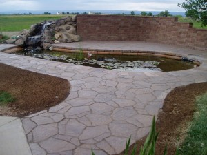 Paver pathway from patio