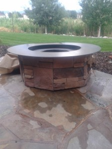 Custom Gas Firepit