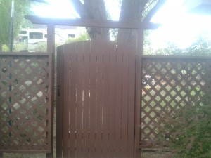 Decorative Gate and Fence for entry into garden