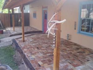 Rustic Fire Brick Patio