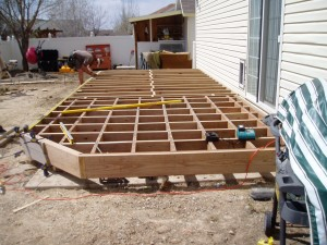 Building The Frame For The Deck