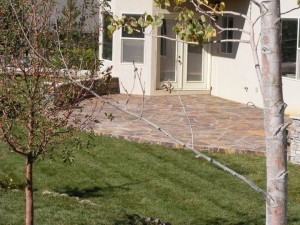 Large flagstone patio