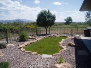 Sod with Sandstone Border